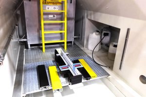 Interior view of the prefabricated self-supportinginspectionpitSystem UP by Global Team