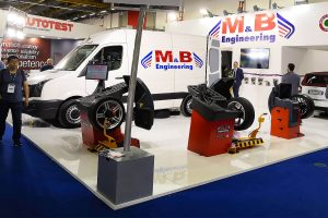 The stand of M&B Engineering at Autopromotec 2019