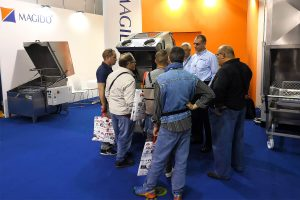 The stand of Magido with the exhibition of the parts washing machines for the automotive and industrial sector