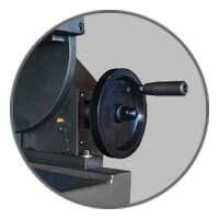 Carmec VGP 1200 - Handwheel for adjusting the angle